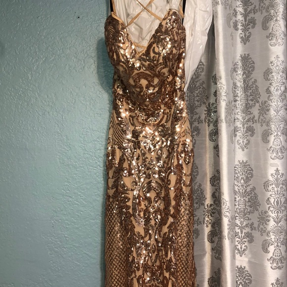 Dresses & Skirts - Rose Gold Prom Dress